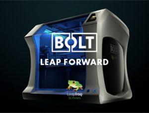 leapfrog 3d printers bolt side