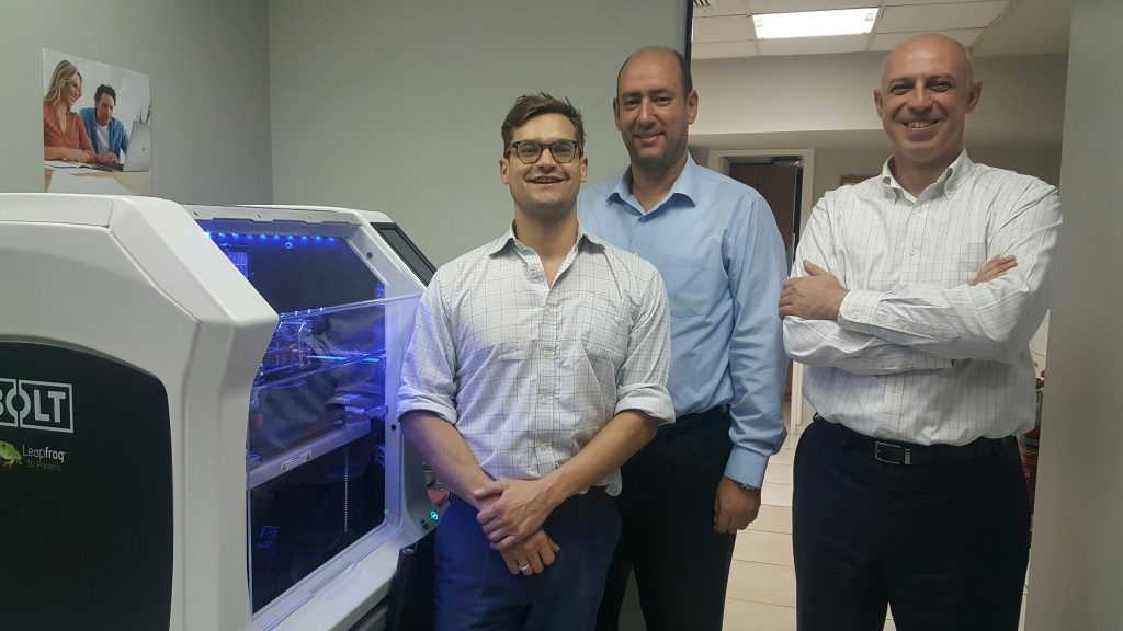 Alphanetrix, 3D printing, Leapfrog, Bolt Pro 3D printer