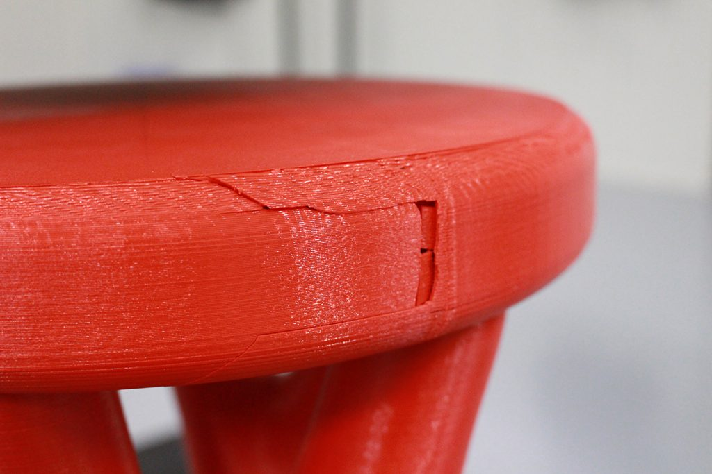 XceL 3D printer, Leapfrog, 3D printed chair testing