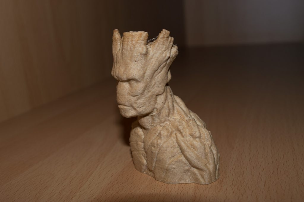 Wood print, Bolt Pro 3D printer, Leapfrog, Groot