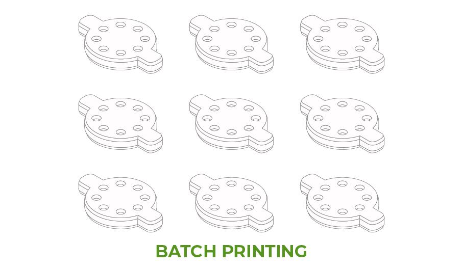 Batch 3D Printing