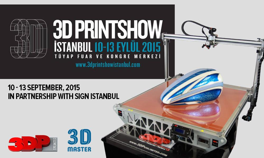 3D Printshow Istanbul - SIGN Istanbul 2015 is the 17th International Advertising Industry and Digital Printing Technology Fair. This year it will showcase the very latest Technologies, materials and services for digital and textile printing, sign technology, visual communication, LED & LED screens and 3D printing.  After 16 successful years, SIGN Istanbul has established itself as the leading regional hub for developing technologies within the printing sector and hosts hundreds of leading and innovative suppliers and thousands of key buyers from Eurasia.  3D Printshow Istanbul Pavilion will be strategically placed within this innovative event and runs between 10-13 September in Tuyap Fair, Congress Center, Istanbul.