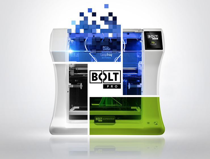 leapfrog 3d printers bolt side