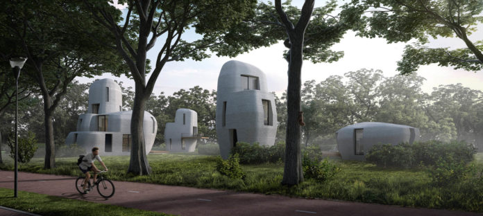 3d printing, houses, 3d printed houses, eindhoven, innovation, technology, 3d, 3dprinter, 3d printing