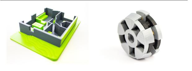 3D printed samples, Leapfrog 3D printers, Bolt Pro 3D printer