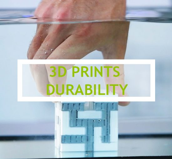 How durable are objects made with a 3D printer?