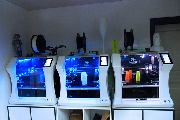 the Bolt Pros / Leapfrog 3D Printers