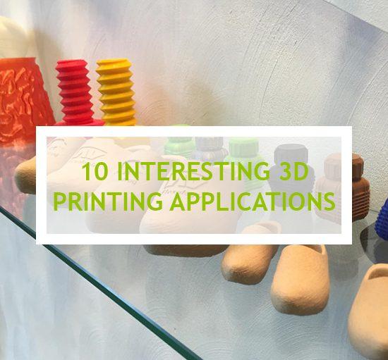 Interesting 3D printing applications