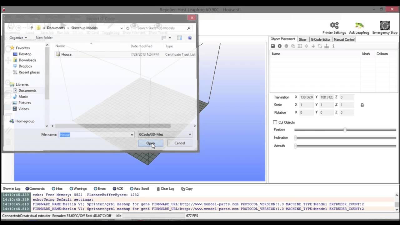 SketchUp / Leapfrog 3D Printers