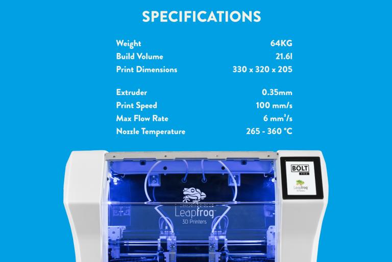 Bolt Specs, KLM, Leapfrog, 3D printing